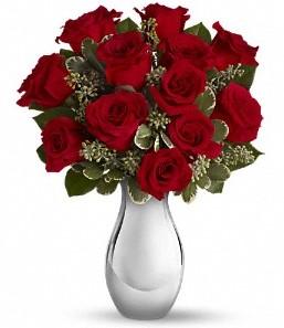 Tekirdağ cicek , cicekci   vazo içerisinde 11 adet kırmızı gül tanzimi