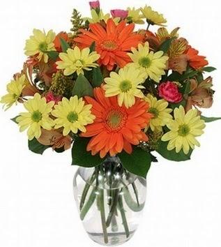 Tekirdağ çiçek servisi , çiçekçi adresleri  vazo içerisinde karışık mevsim çiçekleri