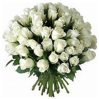 Tekirdağ kaliteli taze ve ucuz çiçekler  33 adet beyaz gül buketi