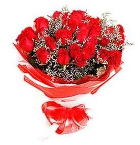 Tekirdağ güvenli kaliteli hızlı çiçek  12 adet kırmızı güllerden görsel buket