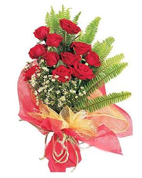 Tekirdağ çiçek yolla  11 adet kırmızı güllerden buket modeli