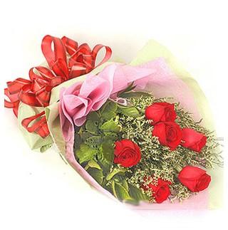 Tekirdağ hediye çiçek yolla  6 adet kırmızı gülden buket