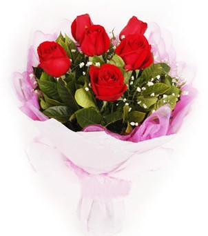Tekirdağ çiçek servisi , çiçekçi adresleri  kırmızı 6 adet gülden buket