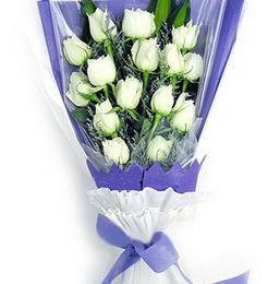 Tekirdağ internetten çiçek satışı  11 adet beyaz gül buket modeli