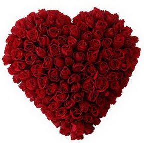 Tekirdağ internetten çiçek satışı  muhteşem kırmızı güllerden kalp çiçeği