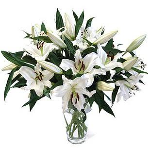 Tekirdağ çiçek , çiçekçi , çiçekçilik  3 dal görsel casablanca vazo tanzimi