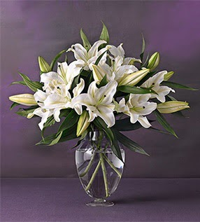 Tekirdağ çiçek yolla  4 dal cazablanca vazo çiçeği