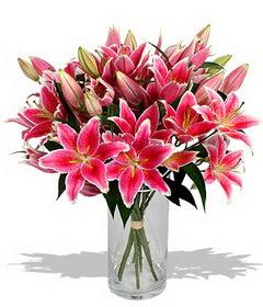 4 dal cazablanca görsel vazosu  Tekirdağ internetten çiçek satışı