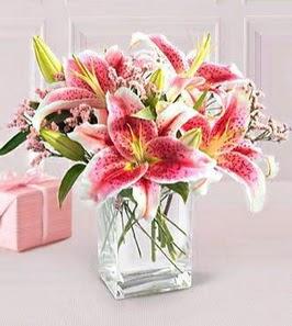 2 dal kazablanka görsel vazosu  Tekirdağ çiçekçiler