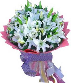 7 dal cazablanca görsel buketi  Tekirdağ internetten çiçek satışı