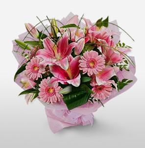 1 dal kazablanka ve kır çiçek görsel buketi  Tekirdağ internetten çiçek siparişi