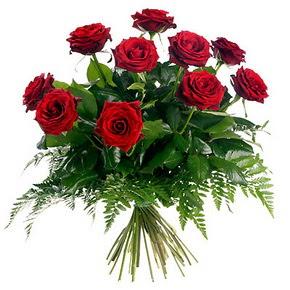 Tekirdağ çiçek satışı  10 adet kırmızı gülden buket