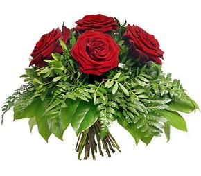 Tekirdağ güvenli kaliteli hızlı çiçek  5 adet kırmızı gülden buket