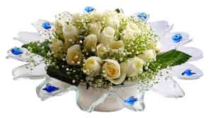 Tekirdağ çiçek mağazası , çiçekçi adresleri  11 adet Beyaz güller özel cam tanzim