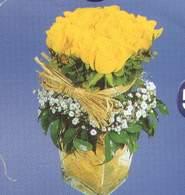 Tekirdağ çiçek online çiçek siparişi  Cam vazoda 9 Sari gül
