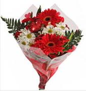 Mevsim çiçeklerinden görsel buket  Tekirdağ çiçek siparişi vermek