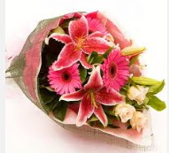 1 dal kazablanka ve mevsim çiçekleri  Tekirdağ online çiçek gönderme sipariş