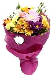 1 demet karışık görsel buket  Tekirdağ çiçek online çiçek siparişi