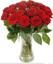 Tekirdağ güvenli kaliteli hızlı çiçek  Vazoda 15 adet kırmızı gül tanzimi