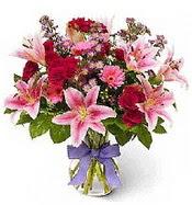 Vazo içerisinde karışık mevsim çiçeği  Tekirdağ çiçekçiler