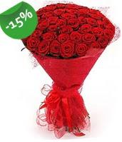51 adet kırmızı gül buketi özel hissedenlere  Tekirdağ çiçekçiler