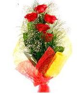 5 li kırmızı gül buketi  Tekirdağ internetten çiçek siparişi