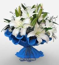 4 dal kazablanka çiçeğinden buket  Tekirdağ uluslararası çiçek gönderme