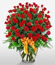 Görsel vazo içerisinde 101 adet gül  Tekirdağ uluslararası çiçek gönderme