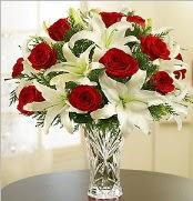 12 adet kırmızı gül 2 dal kazablanka vazosu  Tekirdağ ucuz çiçek gönder