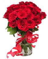 21 adet vazo içerisinde kırmızı gül  Tekirdağ ucuz çiçek gönder