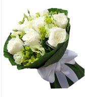9 adet beyaz gül buketi  Tekirdağ çiçekçiler