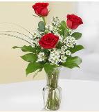 Vazo içerisinde 3 adet kırmızı gül  Tekirdağ ucuz çiçek gönder