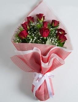9 adet kırmızı gülden buket  Tekirdağ ucuz çiçek gönder