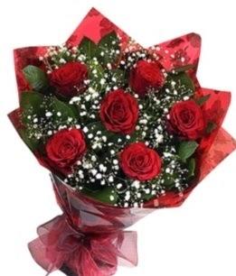 6 adet kırmızı gülden buket  Tekirdağ çiçek yolla , çiçek gönder , çiçekçi