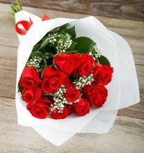 9 kırmızı gülden buket çiçeği  Tekirdağ çiçek satışı