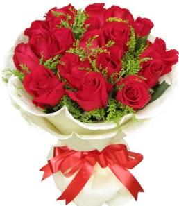 19 adet kırmızı gülden buket tanzimi  Tekirdağ kaliteli taze ve ucuz çiçekler