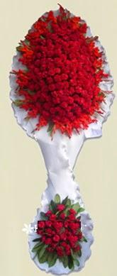 Çift katlı kıpkırmızı düğün açılış çiçeği  Tekirdağ çiçek online çiçek siparişi