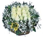 Tekirdağ çiçek siparişi vermek  Beyaz harika bir gül sepeti