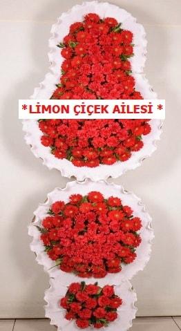 3 katlı kırmızı düğün açılış çiçeği  Tekirdağ çiçek satışı