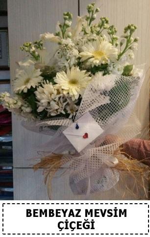 Bembeyaz görsel mevsim çiçek buketi  Tekirdağ çiçekçi telefonları