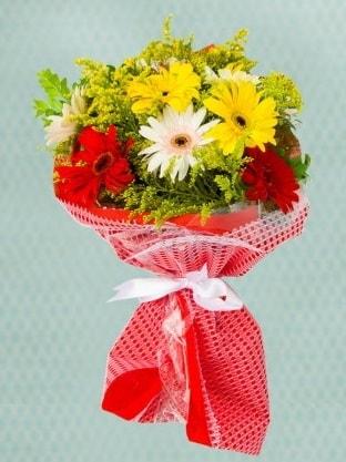 Karışık Gelbera Buketi  Tekirdağ çiçekçiler