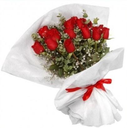 9 adet kırmızı gül buketi  Tekirdağ internetten çiçek satışı