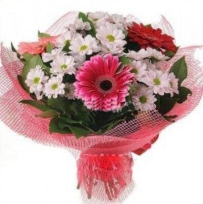Gerbera ve kır çiçekleri buketi  Tekirdağ online çiçek gönderme sipariş