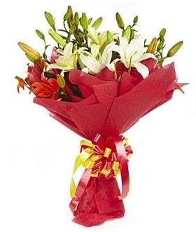 5 dal kazanlanka lilyum buketi  Tekirdağ çiçek gönderme