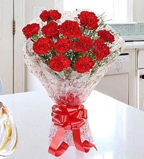 12 adet kırmızı karanfil buketi  Tekirdağ çiçek yolla