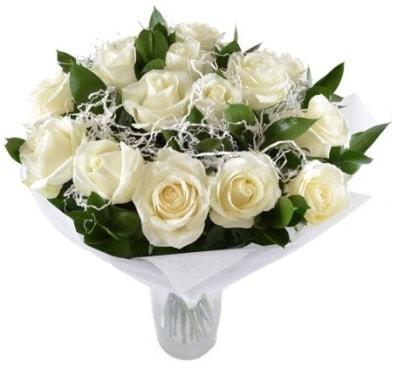 15 beyaz gül buketi sade aşk  Tekirdağ ucuz çiçek gönder
