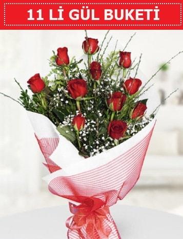 11 adet kırmızı gül buketi Aşk budur  Tekirdağ çiçek gönderme