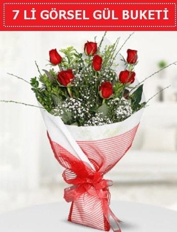 7 adet kırmızı gül buketi Aşk budur  Tekirdağ ucuz çiçek gönder