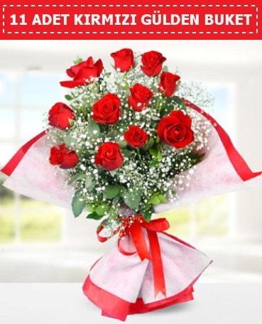 11 Adet Kırmızı Gül Buketi  Tekirdağ online çiçek gönderme sipariş