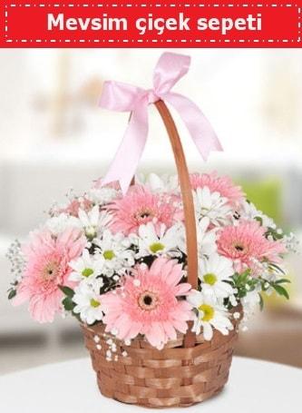 Mevsim kır çiçek sepeti  Tekirdağ hediye çiçek yolla